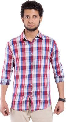 Chaman Handicrafts Men's Checkered Casual Maroon Shirt