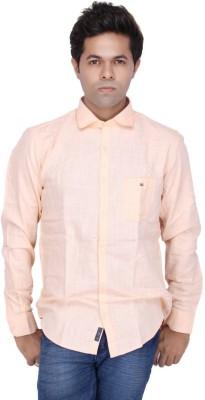 JG FORCEMAN Men's Solid Casual Pink Shirt