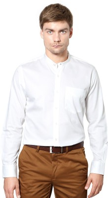 University of Oxford Men's Solid Casual White Shirt