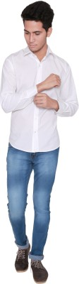 Shreebalajitraders Men's Solid Casual White Shirt