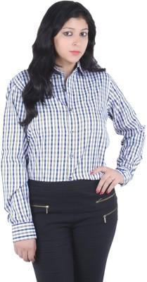 S9 Women's Checkered Casual Beige, Black, White, Multicolor Shirt