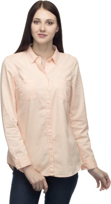 One Femme Women's Solid Party, Formal Pink Shirt
