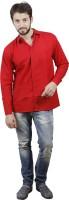 Akaas Formal Shirts (Men's) - Akaas Men's Solid Formal Red Shirt