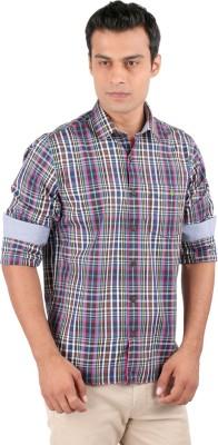 J Hampstead Men's Checkered Casual Brown Shirt