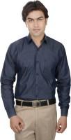 25th R Formal Shirts (Men's) - 25th R Men's Solid Formal Dark Blue Shirt