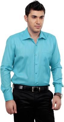 Zeal Men's Solid Formal Light Blue Shirt