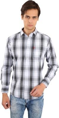 Eden Elliot Men's Checkered Casual Multicolor, Black Shirt