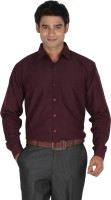 Lagnesh Formal Shirts (Men's) - Lagnesh Men's Solid Formal Maroon Shirt