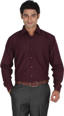 Lagnesh Men's Solid Formal Maroon Shirt