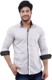LaMode Men's Printed Casual Brown Shirt