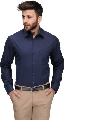 Being Fab Men's Solid Formal Blue Shirt