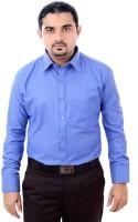 Zosh Formal Shirts (Men's) - Zosh Men's Self Design Formal Blue Shirt