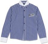 London Fog Boys Striped Casual Dark Blue...