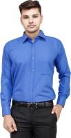 Frankline Formal Shirts (Men's) - FranklinePlus Men's Solid Formal Dark Blue Shirt