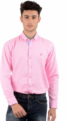 Winsome Deal Men's Solid Formal Pink Shirt