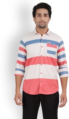Volume Zero Men's Checkered Casual Pink Shirt