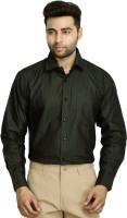 Studio Nexx Formal Shirts (Men's) - Studio Nexx Men's Striped Formal Dark Green Shirt