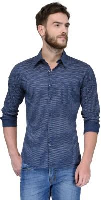 Yellow Submarine Men's Printed Casual Dark Blue Shirt