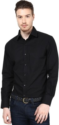 Protext Premium Men's Solid Formal Black Shirt