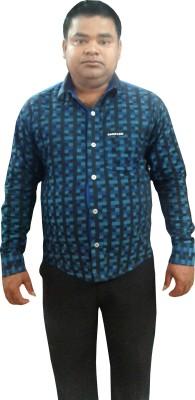 Sarif Log Men's Striped Casual Blue, Black Shirt