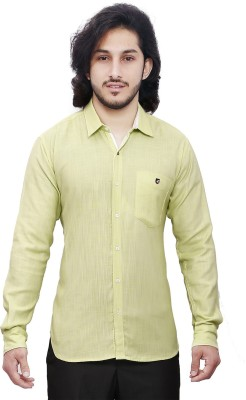 Dave Men's Solid Casual Light Green Shirt