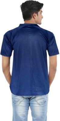 Lyril Solid Men's Flap Collar Neck Multicolor T-Shirt