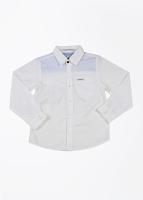 Pepe Jeans Boy's Solid Casual White Shirt