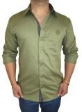 Solen Men's Solid Casual Dark Green Shir...