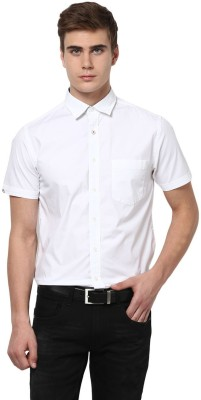 Byford by Pantaloons Men's Solid Casual White Shirt