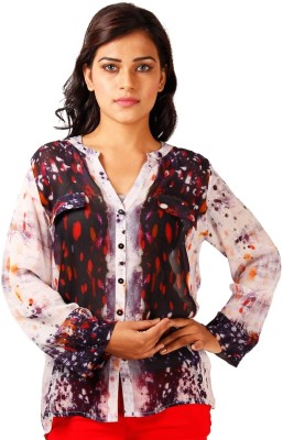 Toscee Women's Printed Casual Multicolor Shirt