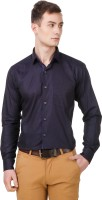 Cavana Formal Shirts (Men's) - CAVANA Men's Self Design Formal Dark Blue Shirt