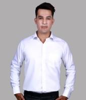 Alark The Ethnic Formal Shirts (Men's) - Alark The Ethnic Men's Self Design Formal White Shirt