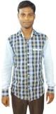 Sarif Log Men's Checkered Casual Multico...