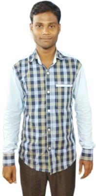 Sarif Log Men's Checkered Casual Multicolor Shirt