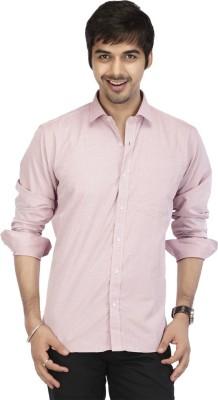 Acropolis Men's Solid Formal Pink Shirt