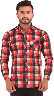 The G Street Men's Checkered Casual Reversible Multicolor Shirt