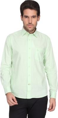 Denimlab Men's Solid Casual Light Green Shirt