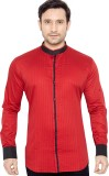 GlobalRang Men's Solid Casual Red Shirt