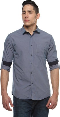 British Club Men's Checkered Casual Grey Shirt