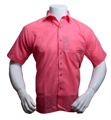 Qube Men's Solid Formal Pink, Red Shirt