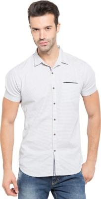 Status Quo Men,s Solid Casual Grey Shirt