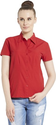 Globus Women's Solid Casual Red Shirt