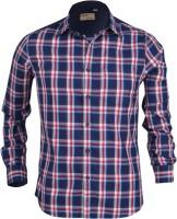 Aady Jones Formal Shirts (Men's) - Aady Jones Men's Checkered Formal Blue Shirt