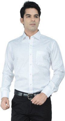 Alpha Centauri Men's Solid Formal White Shirt