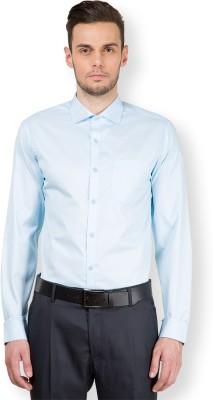 Mark Taylor Men's Checkered Formal Light Blue, White Shirt
