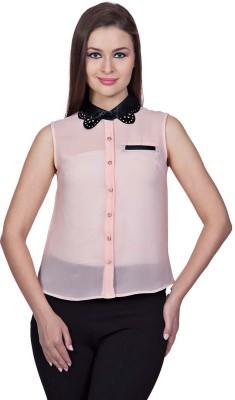 Stylestone Women's Solid Casual Pink Shirt