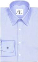 The Stiff Collar Formal Shirts (Men's) - The Stiff Collar Men's Solid Formal Blue Shirt