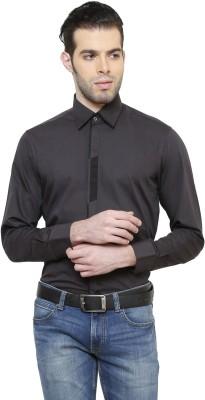 RICHARD COLE Men's Solid Formal Grey Shirt