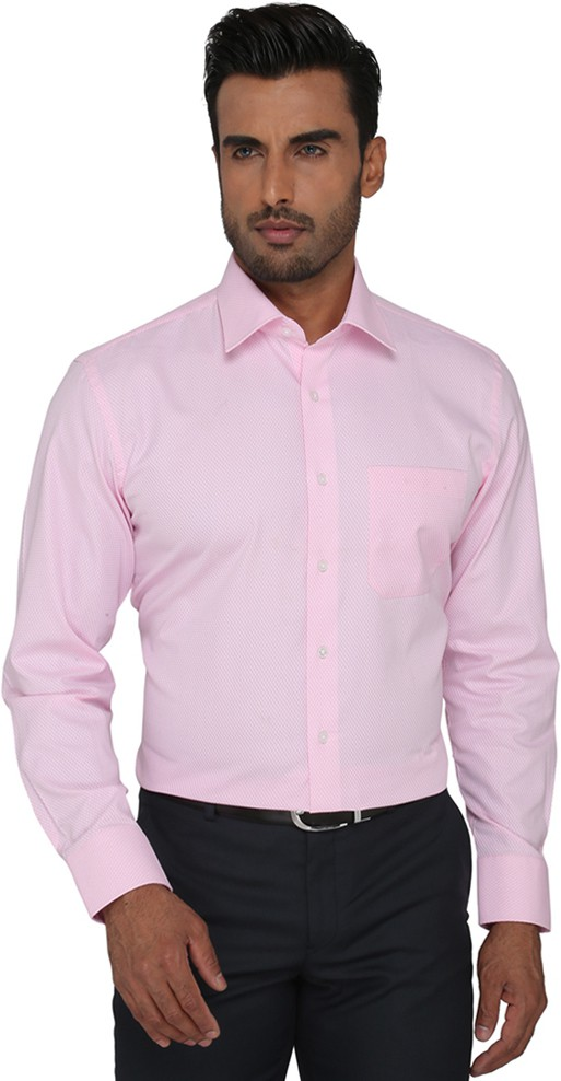 Greenfibre Men's Solid Formal Pink Shirt