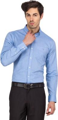 Logo Apparel Men's Solid Formal Light Blue Shirt